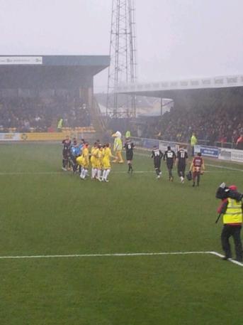 Heavy rain at kick off