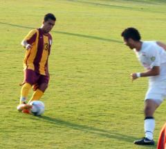 A Boy from Brazil: Gustavo Cunha in action against Virginia Beach; he set up both goals in a 2-1 win.