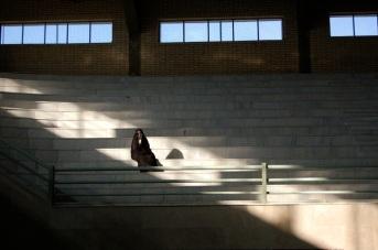 first spectator at women's football match, Tehran ┬® Emma Levine 2007