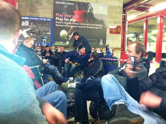 Queuing overnight for Burton tickets in May 2013