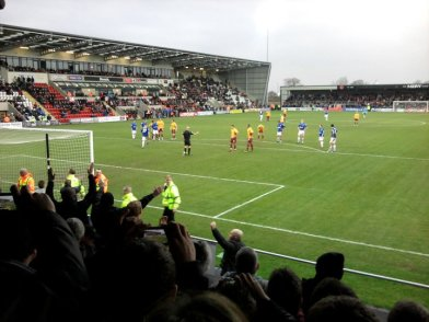The peak of Jacko's time in charge of City - Morecambe away, three games in.