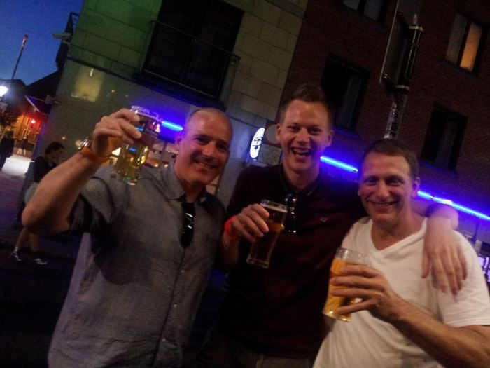 WOAP writers Damien Wilkinson, Mark Scully and David Lawrence sample the Dublin nightlife