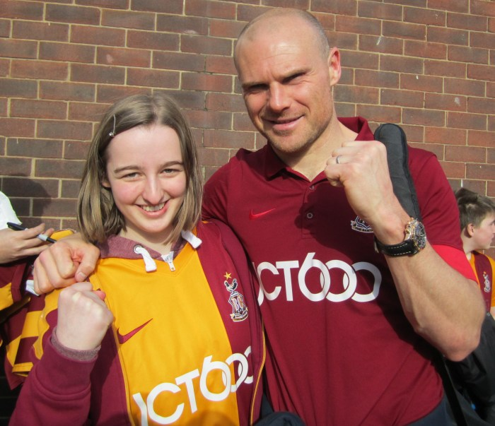 Katie with Gary Jones.